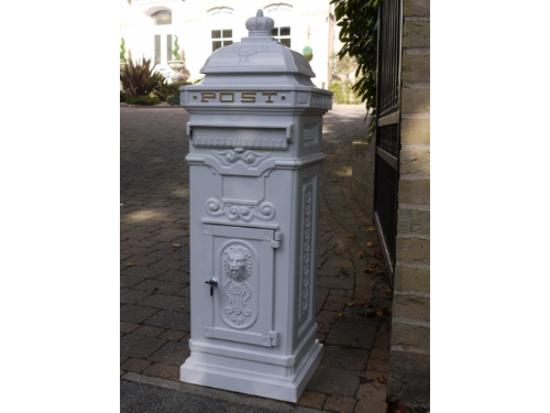 Large Victorian Styled Free Standing Post Box White